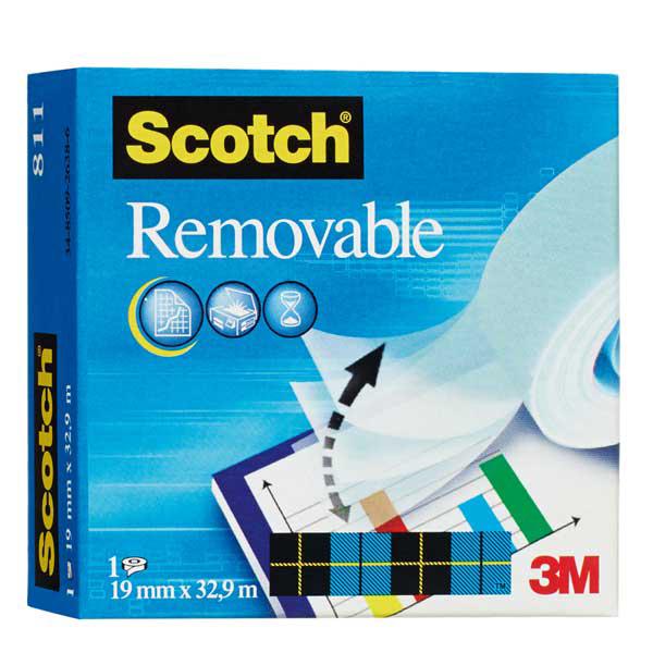 Nastro adesivo Scotch® Magic™ 811 - 19 mm x 33 mt - removibile - trasparente - Scotch® Foto prodotto