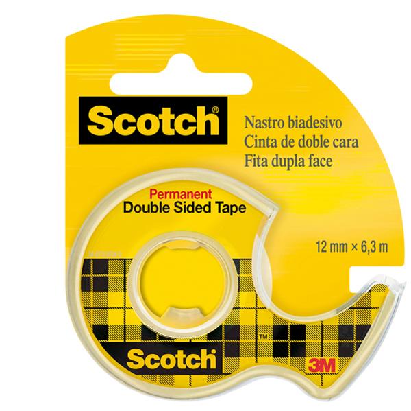 Nastro biadesivo Scotch® - in chiocciola - permanente - senza liner - 6,3 m x 12 mm - trasparente - Scotch® Foto prodotto