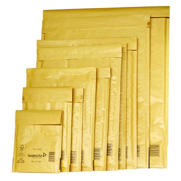 Busta imbottita Mail Lite® Gold - formato J (30 x 44 cm) - conf. 10 pezzi - avana - Sealed Air Foto prodotto