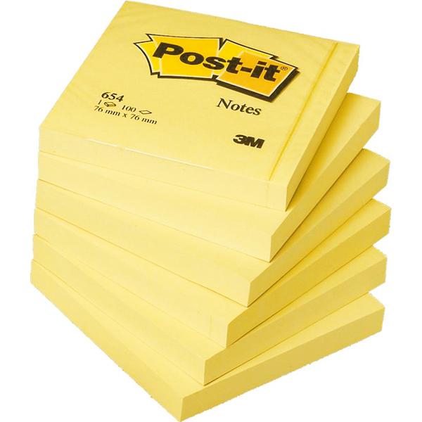 Blocco foglietti - giallo Canary™ - 76  x 76 mm - 100 fogli - Post it® Foto prodotto