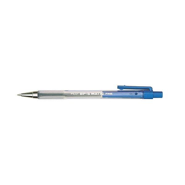 Penna a sfera a scatto BP S Matic - punta fine 0,7 mm - blu  - Pilot Foto prodotto