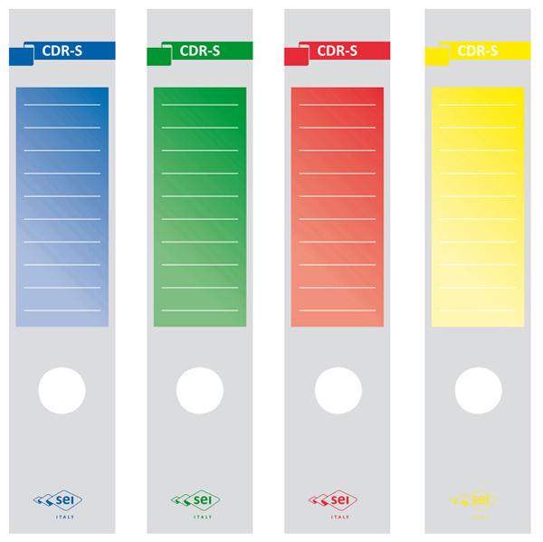 Copridorso CDR - S autoadesivo per registratori - 7 x 34,5 cm - blu - Sei Rota Foto prodotto