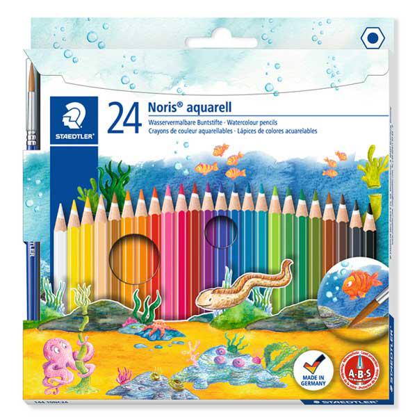 Noris aquarell - pastelli colorati - Staedtler  - astuccio 24 colori Foto prodotto