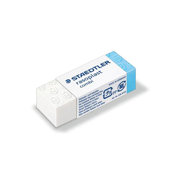 Gomma Combi Rasoplast - 43 x19 x13 mm - blu e bianca - Staedtler Foto prodotto
