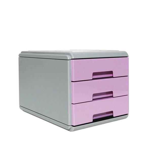 Mini Cassettiera Keep Colour Pastel - 17 x 25,4 x 17,7 cm - grigio/lilla - Arda Foto prodotto