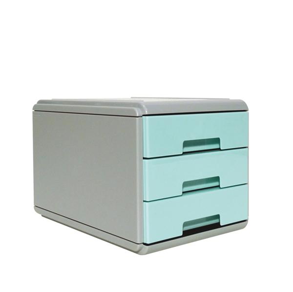 Mini Cassettiera Keep Colour Pastel - 17 x 25,4 x 17,7 cm - grigio/azzurro - Arda Foto prodotto