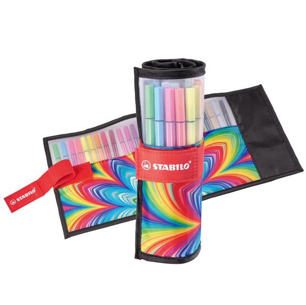 Rollerset Just Like You Pen 68 - colori assortiti - rotolo 25 colori - Stabilo Foto prodotto