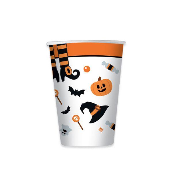 Bicchieri Halloween - conf. 8 pezzi - Big Party Foto prodotto