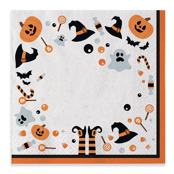 Tovaglioli Halloween - conf. 20 pezzi - Big Party Foto prodotto