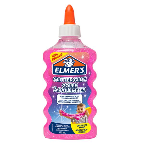 Colla glitterata liquida Slime - rosa - flacone 177 ml - Elmer's Newell Foto prodotto