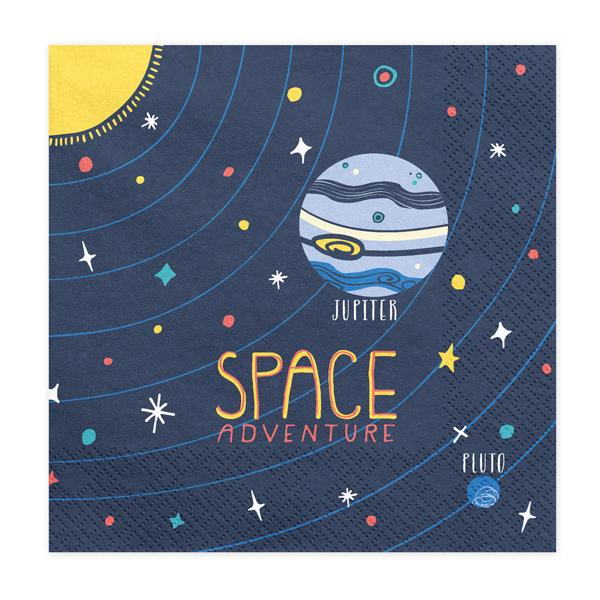 Tovaglioli carta - space party - 33  x 33 cm - conf. 20 pezzi - Partydeco Foto prodotto