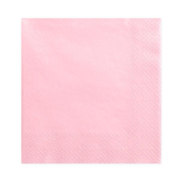 Tovaglioli carta - rosa - 33  x 33 cm - conf. 20 pezzi - Partydeco Foto prodotto