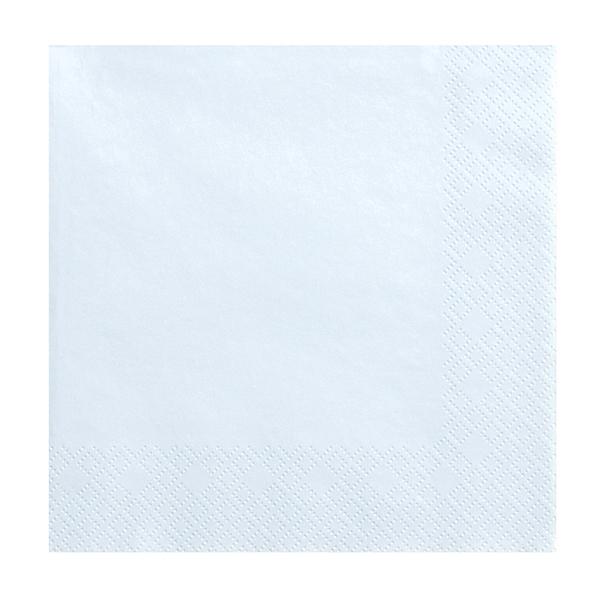 Tovaglioli carta - celeste - 33  x 33 cm - conf. 20 pezzi - Partydeco Foto prodotto