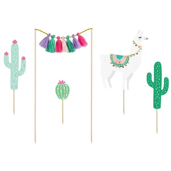 Kit cake topper - cactus - conf. 5 pezzi - Partydeco Foto prodotto