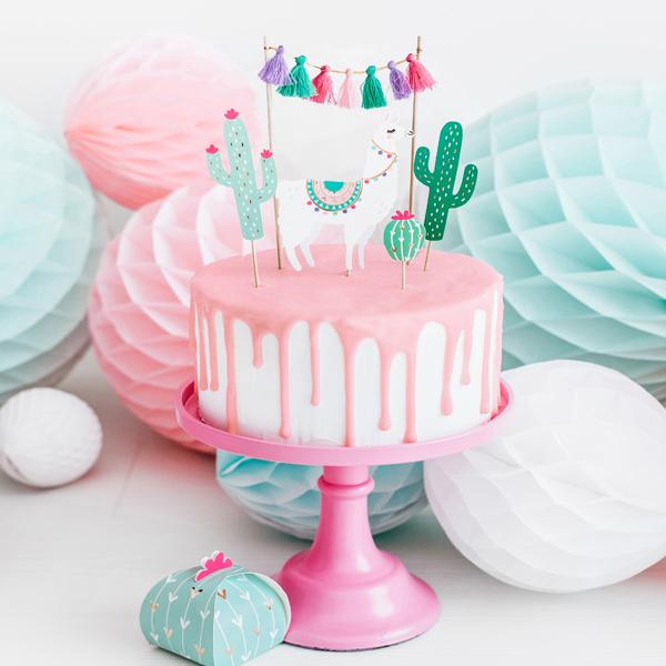 Kit cake topper - cactus - conf. 5 pezzi - Partydeco Foto prodotto Photo 02 S