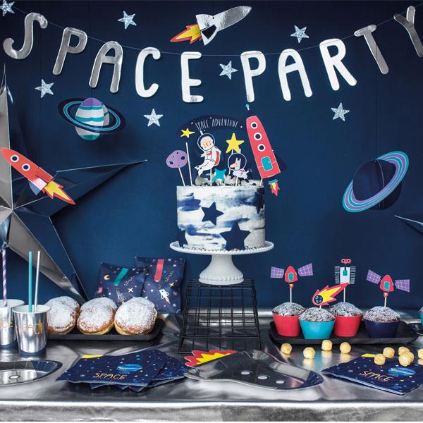 Kit cake topper - space party - conf. 7 pezzi - Partydeco Foto prodotto Photo 02 S