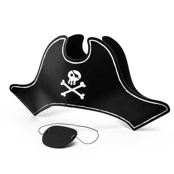 Cappello e benda da pirata - Partydeco Foto prodotto