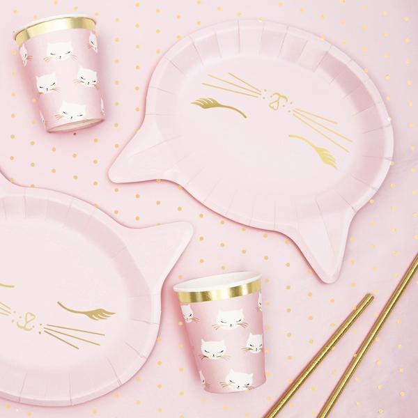 Piatti di carta - gatto - 22 x 20 cm - conf. 6 pezzi - Partydeco Foto prodotto Photo 02 S