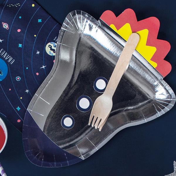 Piatti carta - space party - 21,5 x 29,5 cm - conf. 6 pezzi - Partydeco Foto prodotto Photo 02 S