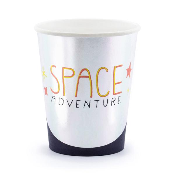 Bicchieri carta - space party - 200 ml - conf. 6 pezzi - Partydeco Foto prodotto