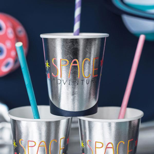 Bicchieri carta - space party - 200 ml - conf. 6 pezzi - Partydeco Foto prodotto Photo 02 S
