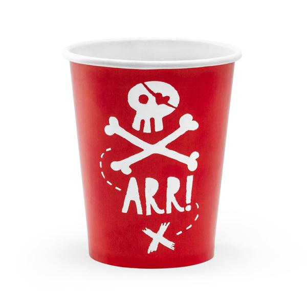 Bicchieri carta - pirati - 220 ml - conf. 6 pezzi - Partydeco Foto prodotto