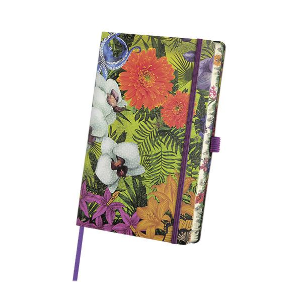 Notebook righe Eden Orchid - 9 x14 cm - Castelli Milano Foto prodotto