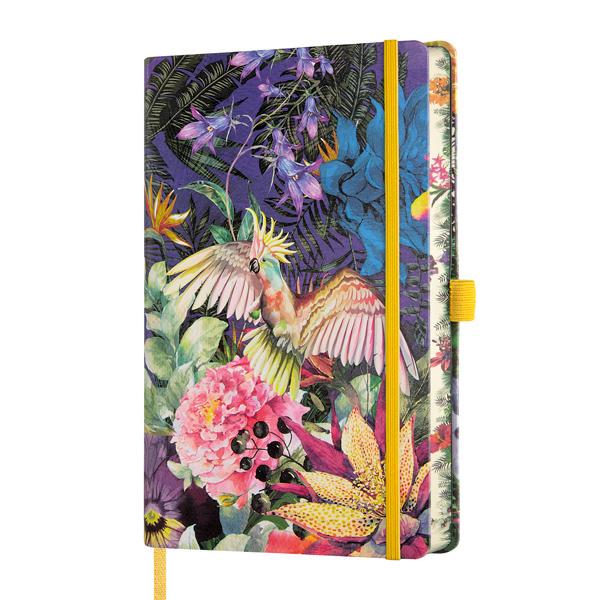Notebook righe Eden cockatiel - 13 x 21 cm - Castelli Milano Foto prodotto