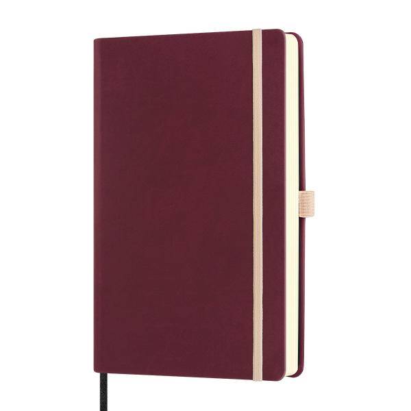 Notebook righe Aquarela  black cherry - 13  x 21 cm - Castelli Milano Foto prodotto