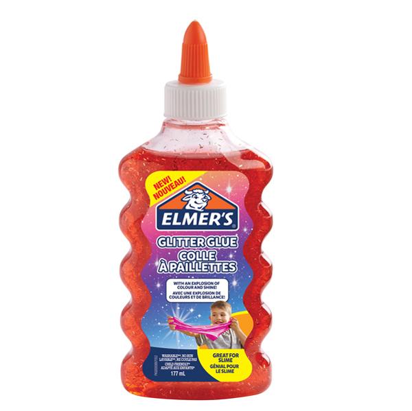 Colla glitterata liquida Slime - rosso - flacone 177 ml - Elmer's Newell Foto prodotto