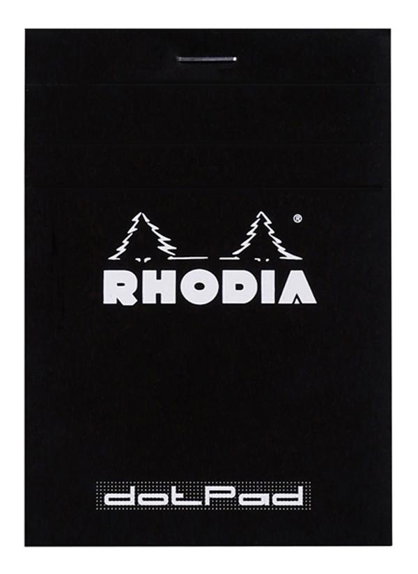 Blocco Black n. 12 - dotpad - punti - 8,5 x 12 cm - 80 gr - 80 fogli – Rhodia Foto prodotto