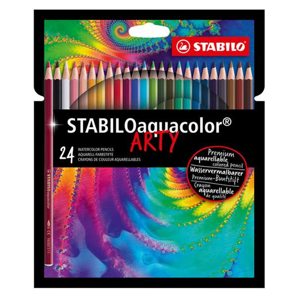 Matita colorata acquarellabile STABILOacquacolor® - colori assortiti - astuccio 24 pezzi - Stabilo Foto prodotto