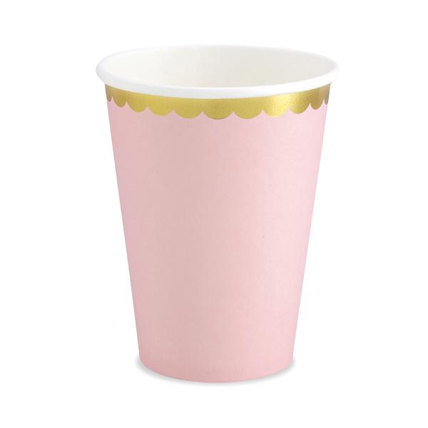 Bicchieri carta - rosa - 220 ml - conf. 6 pezzi - Partydeco Foto prodotto