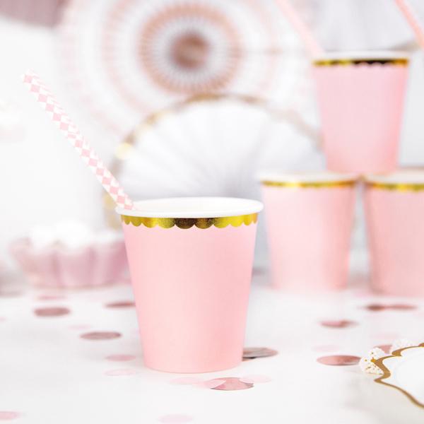 Bicchieri carta - rosa - 220 ml - conf. 6 pezzi - Partydeco Foto prodotto Photo 02 S