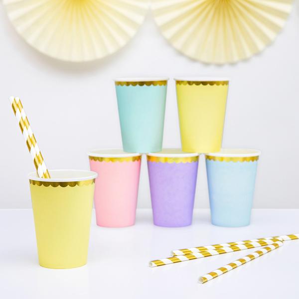Bicchieri carta - rosa - 220 ml - conf. 6 pezzi - Partydeco Foto prodotto Photo 03 S