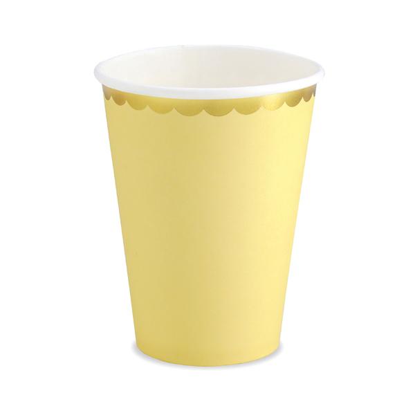Bicchieri carta - giallo - 220 ml - conf. 6 pezzi - Partydeco Foto prodotto