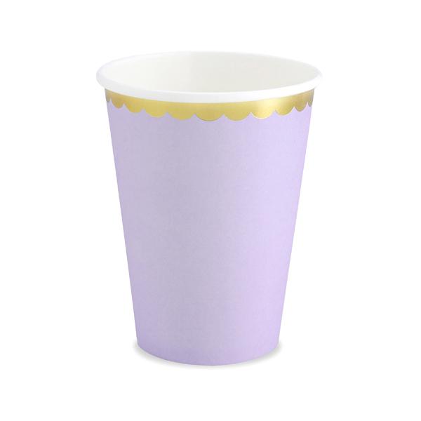 Bicchieri carta - lilla - 220 ml - conf. 6 pezzi - Partydeco Foto prodotto