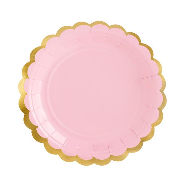 Piatti carta - rosa - Ø 18 cm - conf. 6 pezzi - Partydeco Foto prodotto