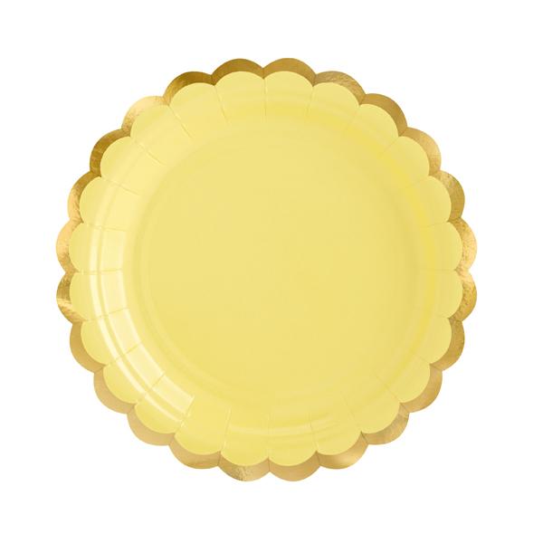 Piatti carta - giallo - Ø 18 cm - conf. 6 pezzi - Partydeco Foto prodotto