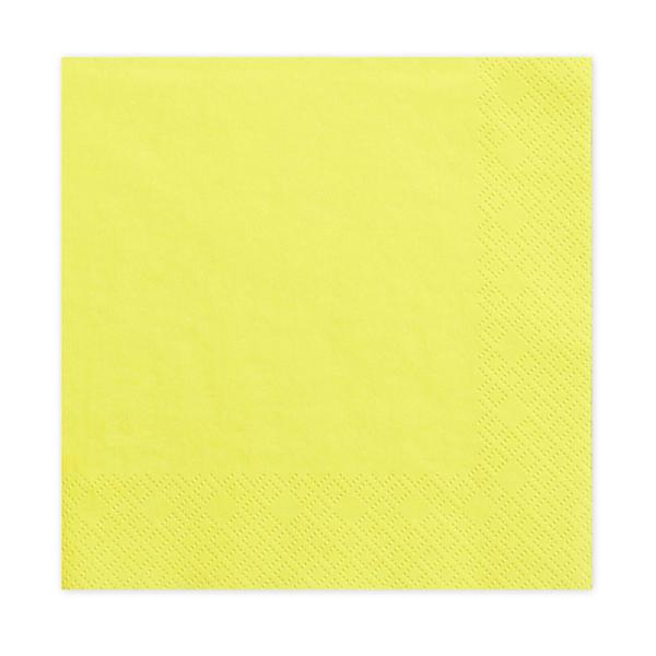 Tovaglioli carta - giallo - 33  x 33 cm - conf. 20 pezzi - Partydeco Foto prodotto