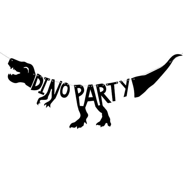Festone - dino party - 20 x 90 cm - Partydeco Foto prodotto