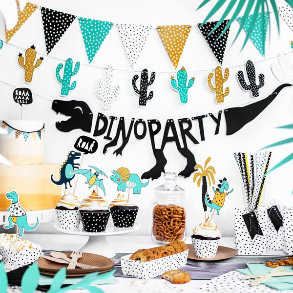 Kit cake topper - dinosauri - conf. 5 pezzi - Partydeco Foto prodotto Photo 02 S