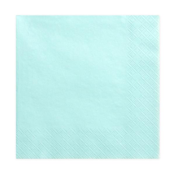 Tovaglioli carta - turchese - 33  x 33 cm - conf. 20 pezzi - Partydeco Foto prodotto