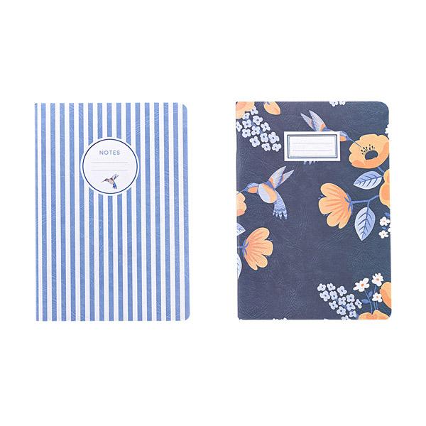 Notebook B'LOG FLOWERS con targhetta - A5 - quadretti 5 mm c/margine - 48 fogli - 90 gr - Ancor Foto prodotto
