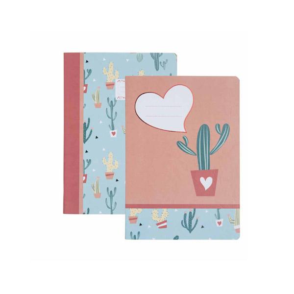 Notebook B'LOG CACTOS con targhetta - A5 - quadretti 5 mm c/margine - 48 fogli - 90 gr - Ancor Foto prodotto