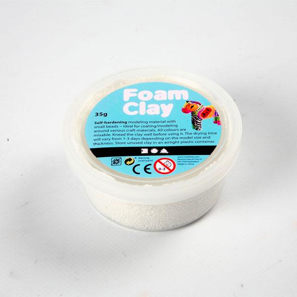 Pasta modellabile Foam Clay - vaschetta da 35 gr - bianco - Creativ Company Foto prodotto