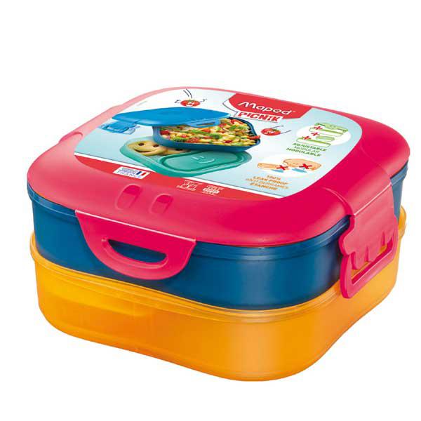 Lunch box 3 in 1 Picnick Concept - rosa corallo - Maped Foto prodotto